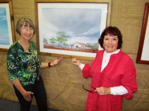 Marg Crilly, art show organiser with Marg Wilson this year's feature artist